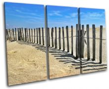 Beach Fence Sunset Seascape - 13-1987(00B)-TR32-LO